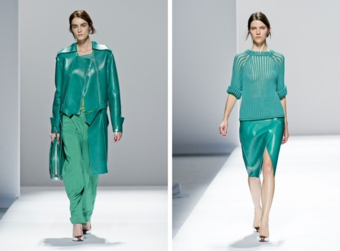 Sport, chic, sportmax, luxe, green, emerald, lime, black, white, sporty, catwalk, fashion, show, ss13, spring, summer